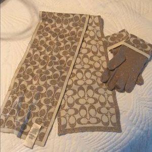 Accessories - Coach scarf and glove set